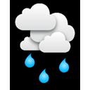Bedeckt, starker Regen